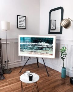 TV with floor stand- another example of best buy Tvs