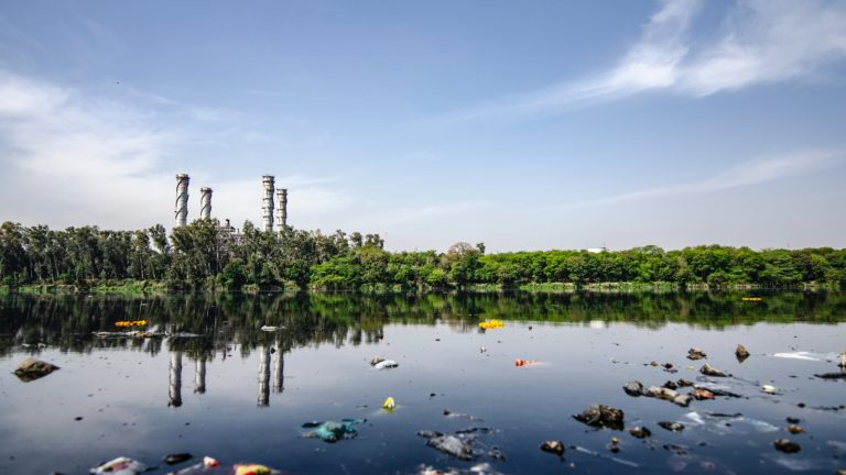 The polluting industries near the river