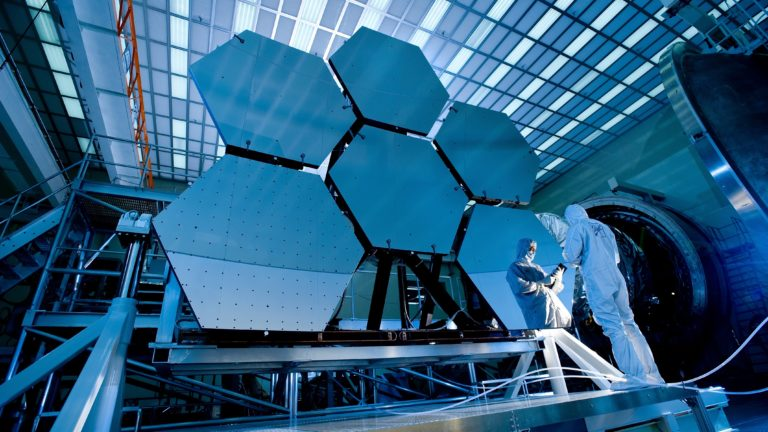 technology background image of a space radar